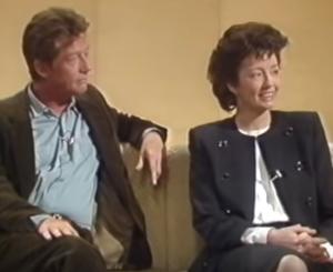 John Hurt and Christine on set