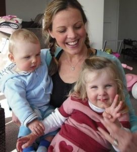 Juliet with Finn and Mia when younger