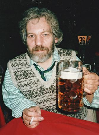 Bernard in a Frankfurt bierkeller