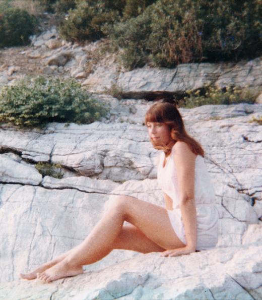 My sister Carol in Guernsey
