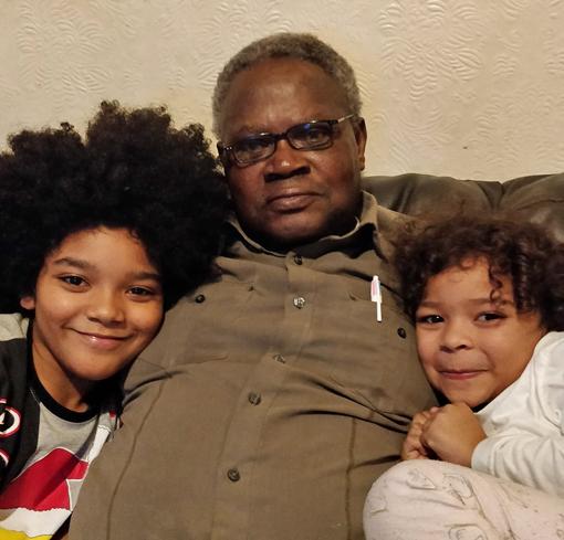 Herbert with daughters Eugenia and Aisha Jemima