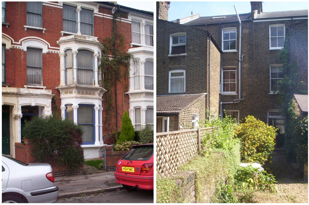 London house, front and back