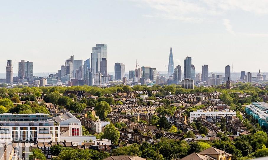 London skyline from the Whittington Hospital