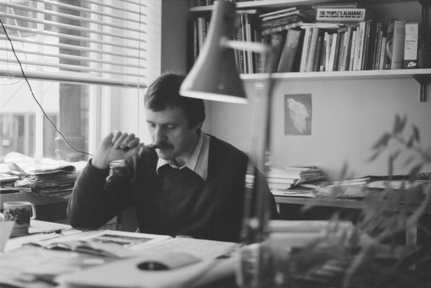 Me as editor at John Murray's, c.1980
