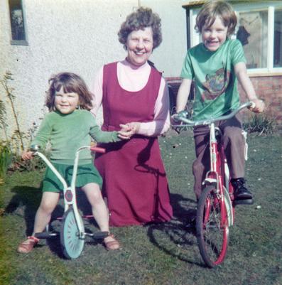 Mum with grandchildren