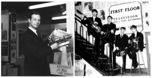 Brian Epstein and The Beatles at NEMS. I walked down those stairs many times.