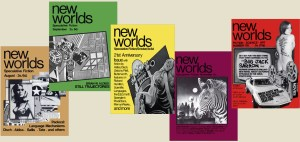 New Worlds as it was when I first saw it in 1967, designed by Charles Platt. The cover girl in the issue on the right was Diane Lambert, Charles's girlfriend and the magazine's Advertising Manager.